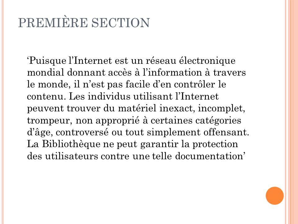RESSOURCES ET OUTILS POUR FACILITER LA RÉDACTION DE MES POLITIQUES Politiques en français (SBO-Nord/SBOS) http://www.sols.org/links/clearinghouse/accreditation/selecteds amplepolicies/indexfr.htm La Bibliothèque publique dOttawa http://24369.vws.magma.ca/index_f.html http://24369.vws.magma.ca/index_f.html La Bibliothèque publique de Montréal http://octogone.ville.lasalle.qc.ca/francais/renseignements/text/ Politique_de_choix_LOctogone.pdf La Bibliothèque publique du Grand Sudbury http://www.sudbury.library.on.ca/index.cfm?app=w_library&la ng=fr&currID=2727&parID=2724
