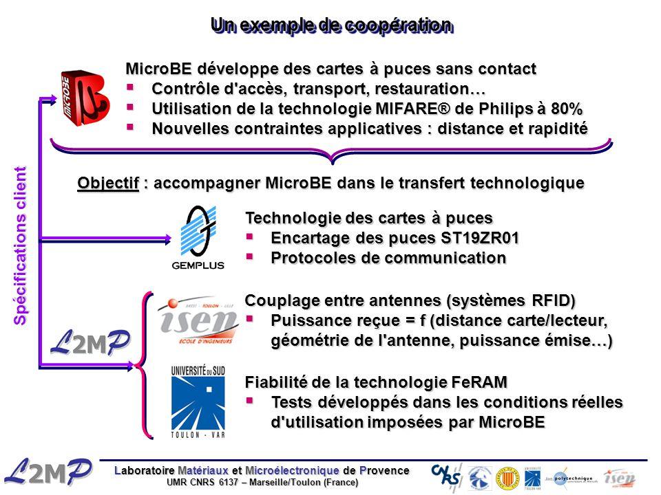 Laboratoire Matériaux et Microélectronique de Provence UMR CNRS 6137 – Marseille/Toulon (France) Un exemple de coopération MicroBE développe des carte