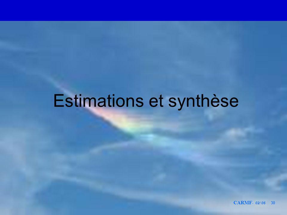 CARMF - 02/ 06 30 Estimations et synthèse