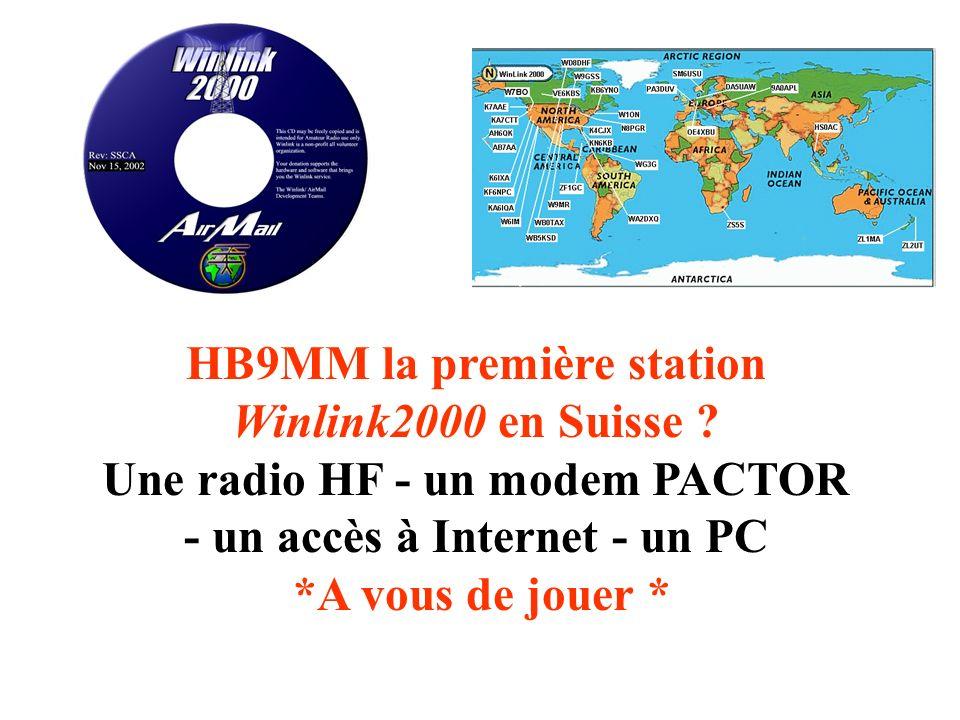 Croissance du réseau Winlink 2000 La Qualité est plus importante que la Quantité. –« Participating Network Stations » (PMBOs) doivent respecter un sta