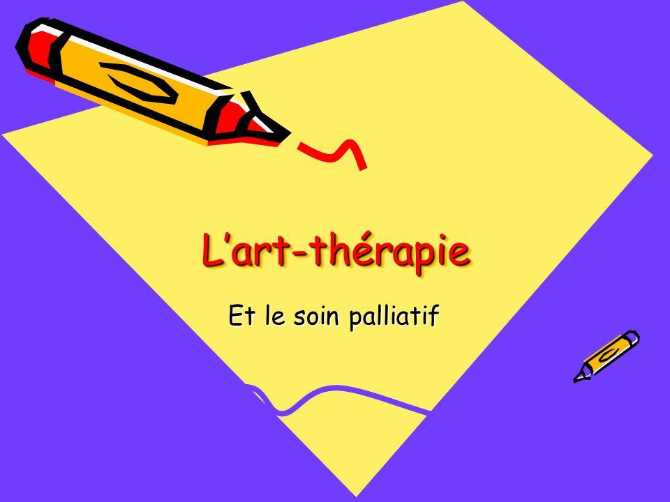 Lart-thérapie atténue les douleurs de la personnes en fin de vie.