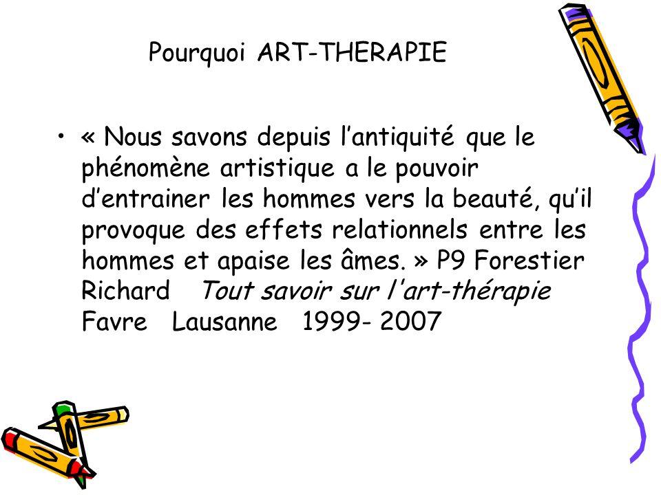 Lart-thérapie est une spécialité professionnelle qui comprend des méthodes et des moyens qui lui sont spécifiques.