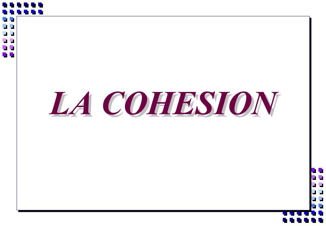 LA COHESION