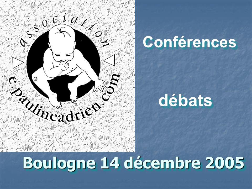 Boulogne 14 décembre 2005 Conférences débats