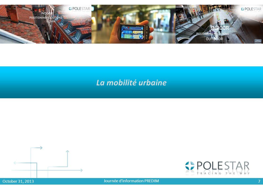 8 Un constat 70 % des appels mobiles et 80% des connections Data sont établis en environnement Indoor (Strategy Analytics) 39 % des utilisateurs déclarent utiliser les LBS Journée d information PREDIM