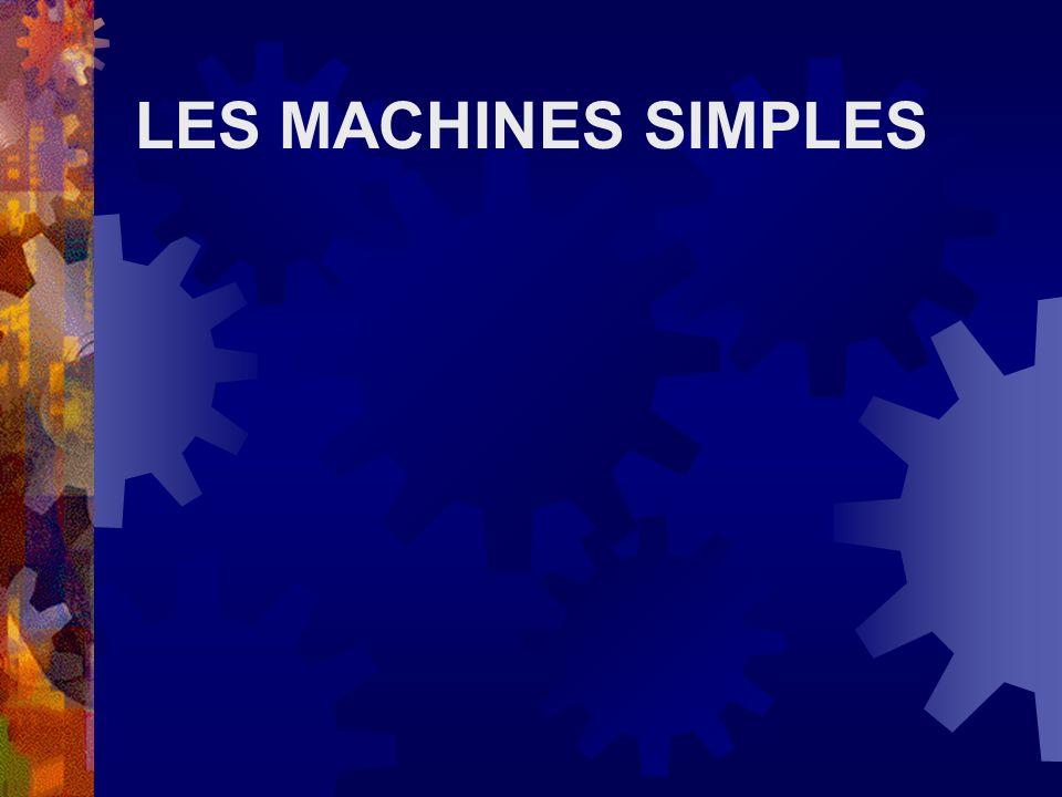 Les machines simples En plaçant plusieurs machines simples ensemble, on obtient des machines complexes.
