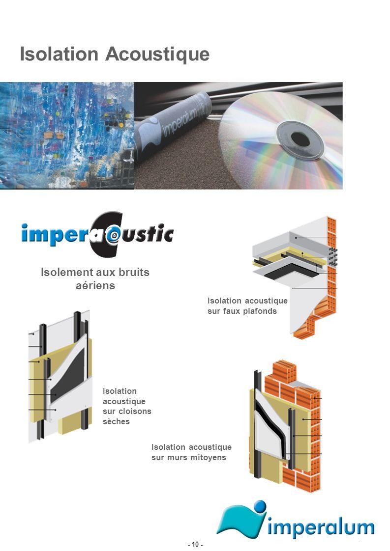 Isolation Acoustique Isolation acoustique sur murs mitoyens Isolation acoustique sur cloisons sèches Isolation acoustique sur faux plafonds Isolement