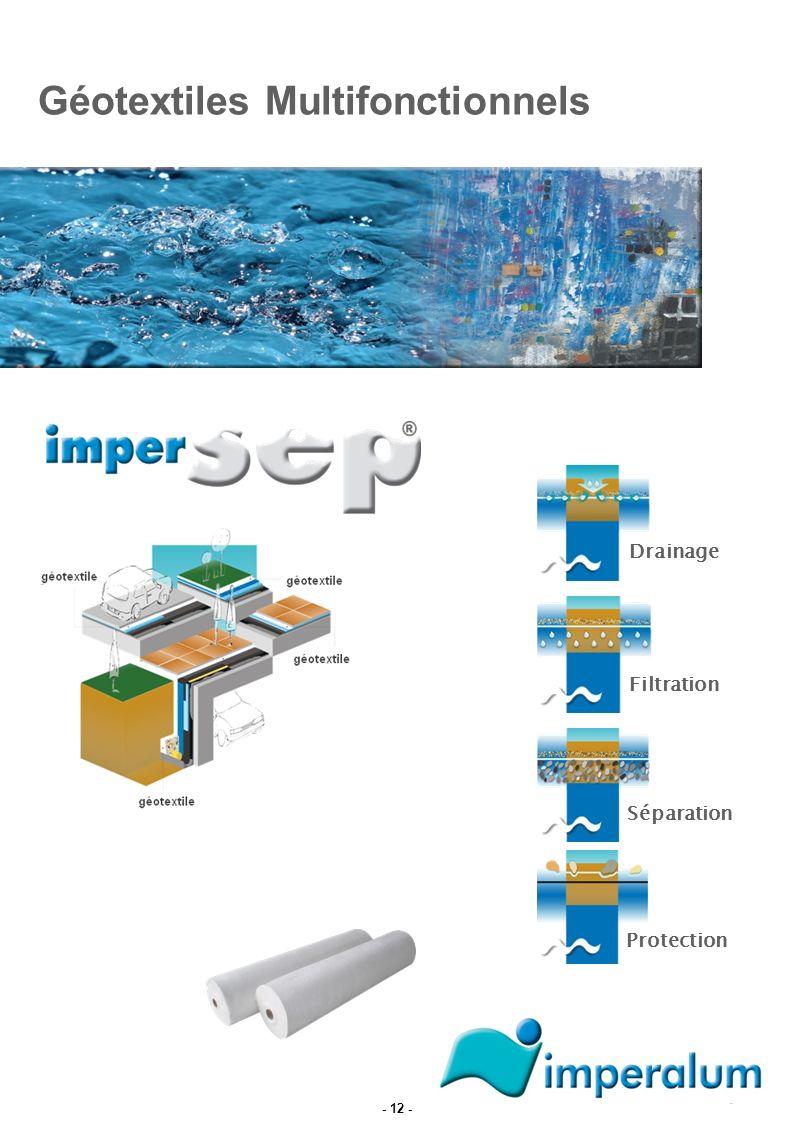 Géotextiles Multifonctionnels Drainage Filtration Protection Séparation - 12 -