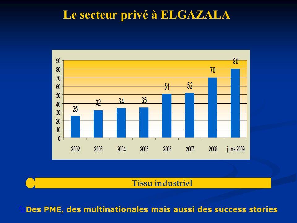 Évolution des emplois du secteur privéAnnée20022003200420052006200720082009Emploi5177007508501200132414501650