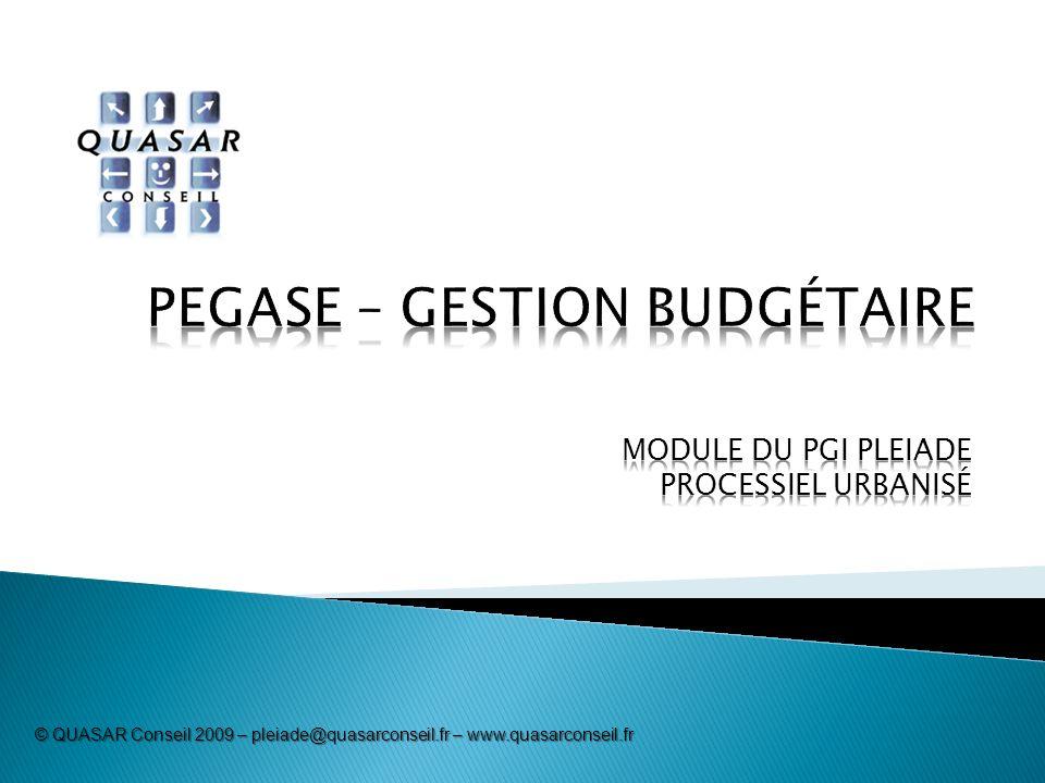 © QUASAR Conseil 2009 – pleiade@quasarconseil.fr – www.quasarconseil.fr
