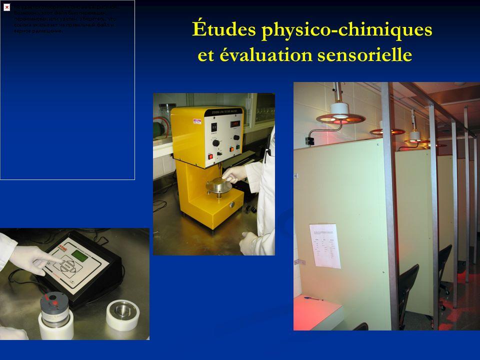 Études physico-chimiques et évaluation sensorielle