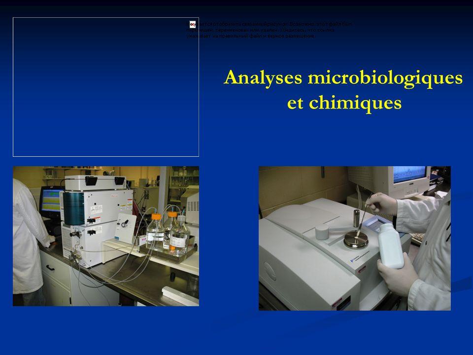Analyses microbiologiques et chimiques