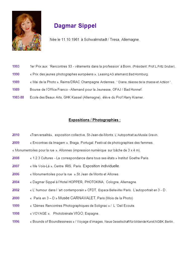 Dagmar Sippel Née le 11.10.1961 à Schwalmstadt / Tresa, Allemagne. 1993 1er Prix aux Rencontres 93 - vêtements dans la profession à Bonn, (Président :