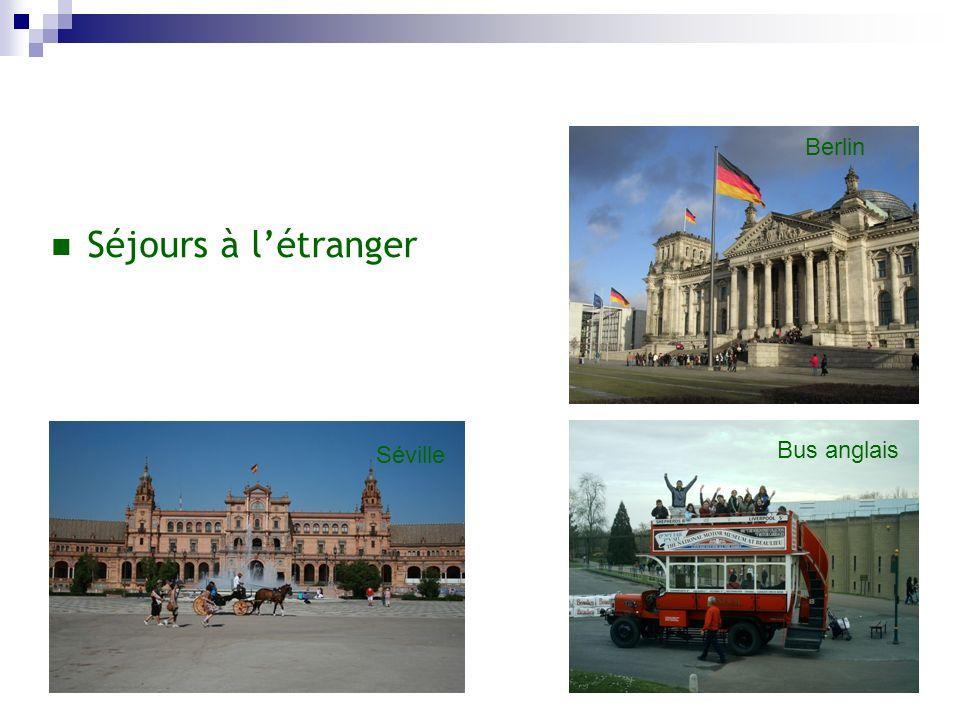 Séjours à létranger Berlin Bus anglais Séville