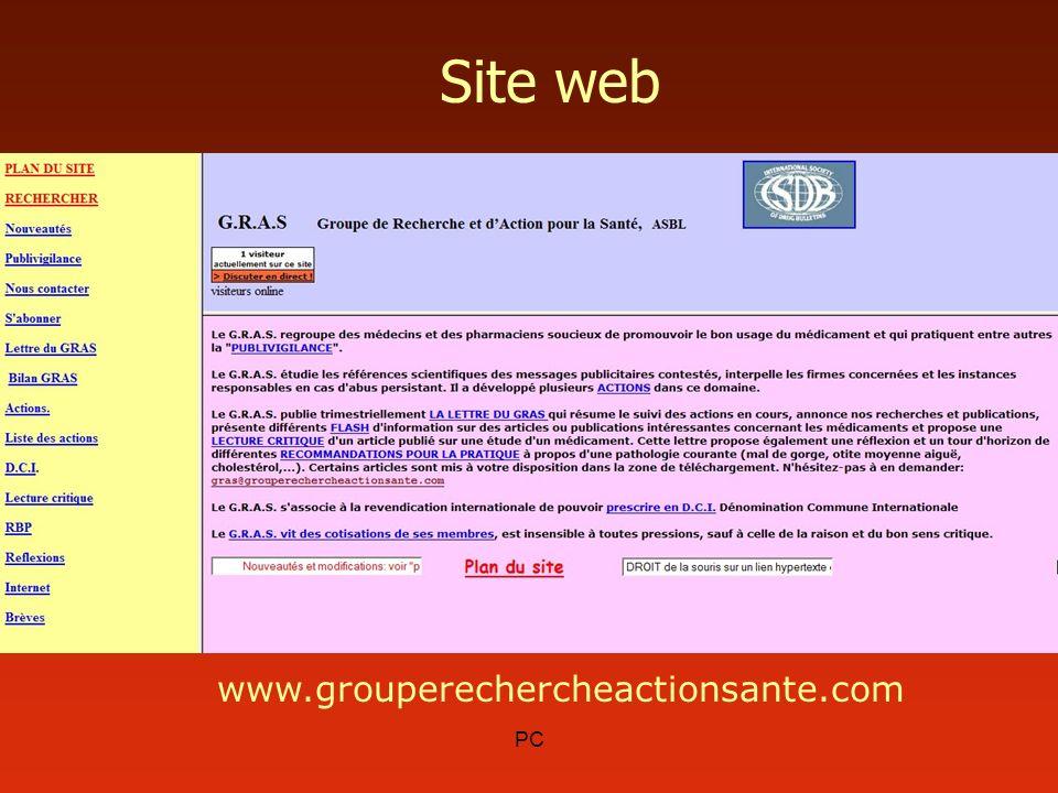 PC Site web www.grouperechercheactionsante.com