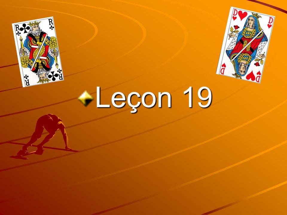 Leçon 19