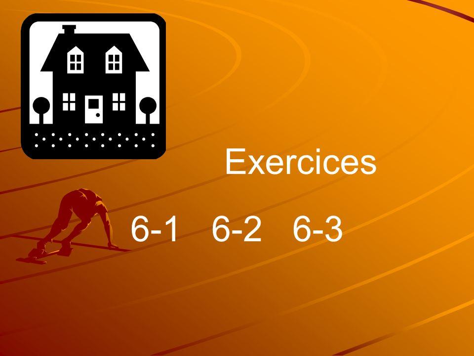 6-1 6-2 6-3 Exercices