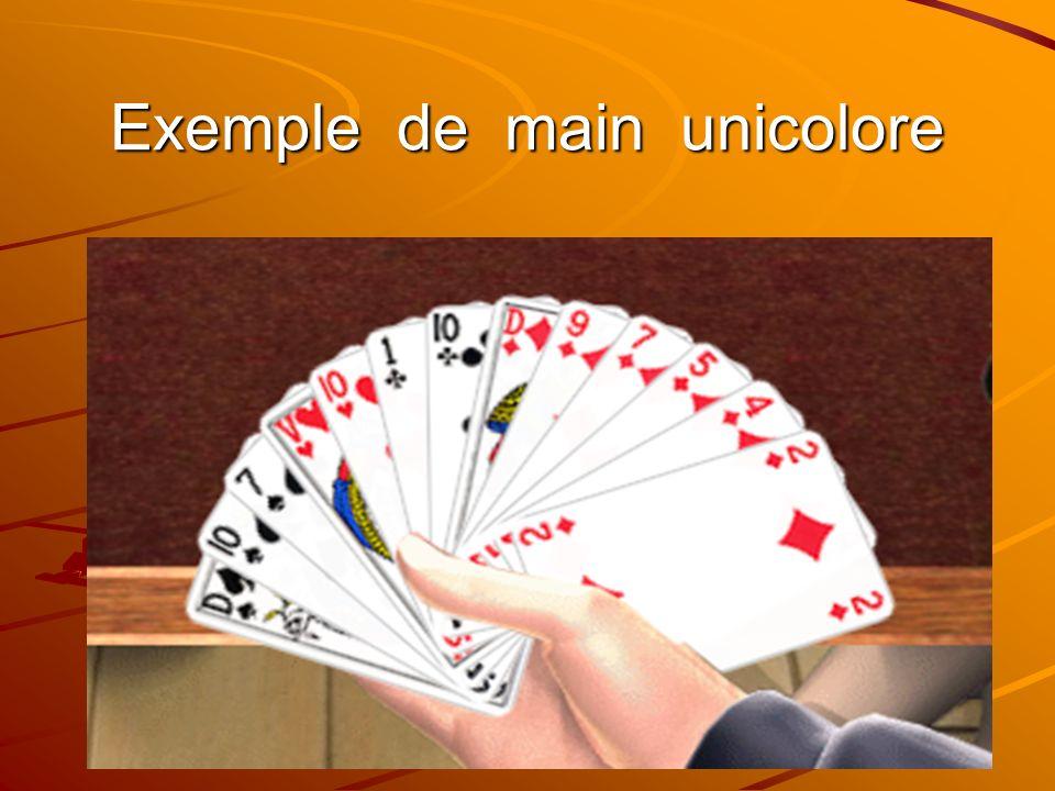 Les mains bicolores comportent une couleur dau moins 5 cartes et une autre couleur dau moins 4 cartes la 3è couleur la plus longue possède au plus 3 cartes