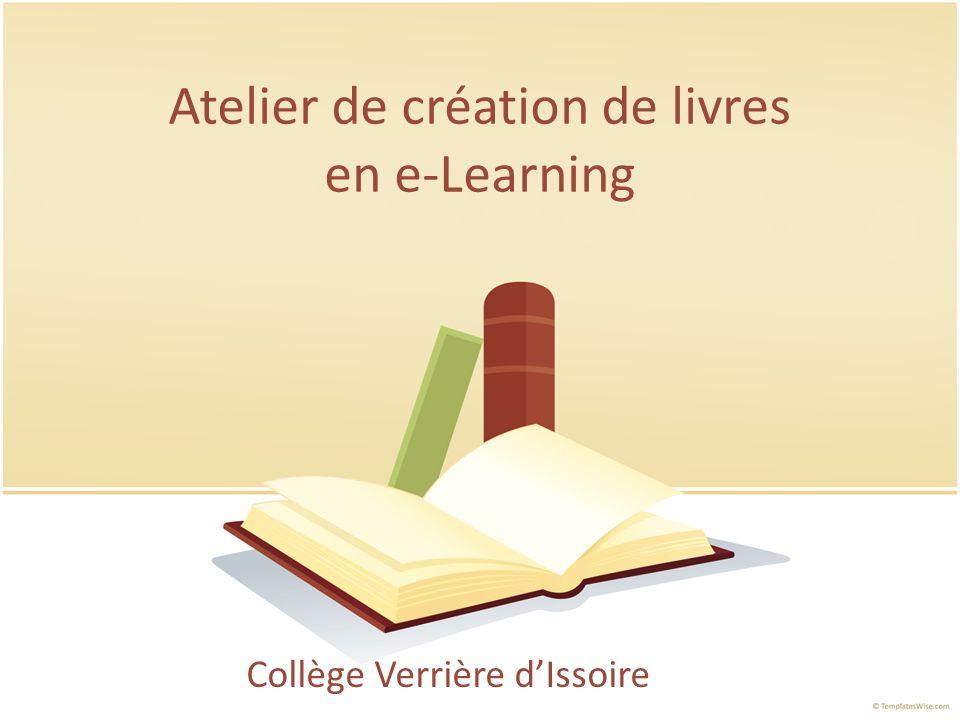 Atelier de création de livres en e-Learning Collège Verrière dIssoire