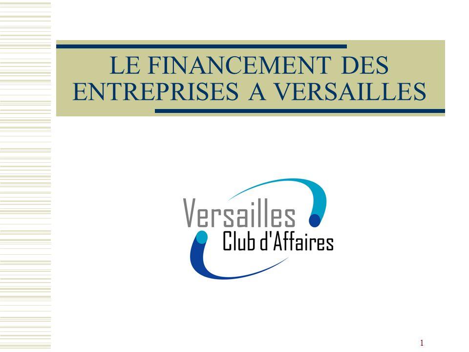 1 LE FINANCEMENT DES ENTREPRISES A VERSAILLES