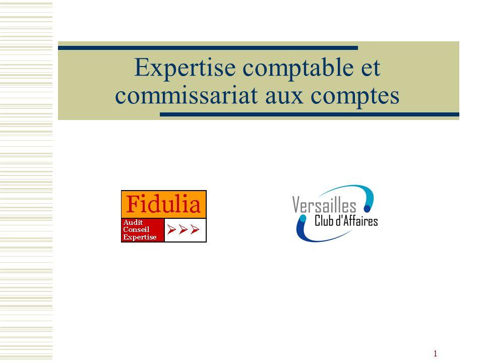 1 Expertise comptable et commissariat aux comptes