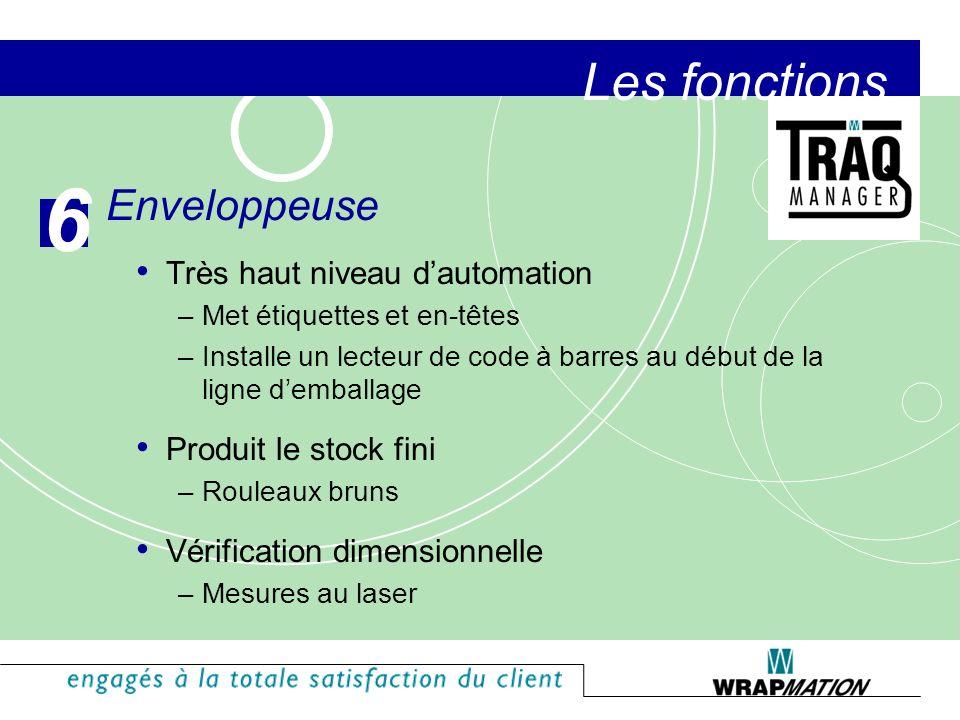 The Functions Module du Suivi de la qualité Trace la qualité du rouleau, du rouleau jusquau jumbo Supporte les valeurs moyennes A un impact sur chaque