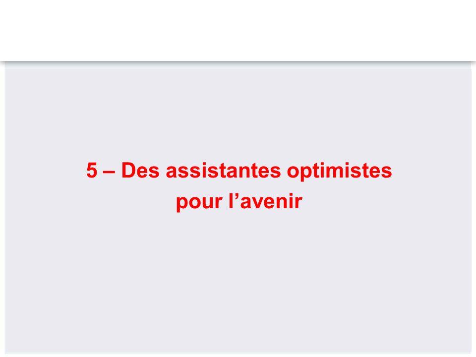 5 – Des assistantes optimistes pour lavenir