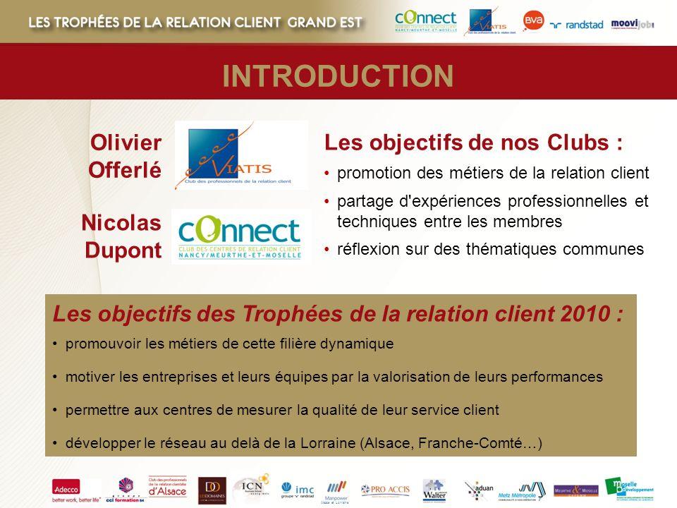Olivier Offerlé Les objectifs de nos Clubs : promotion des métiers de la relation client partage d'expériences professionnelles et techniques entre le