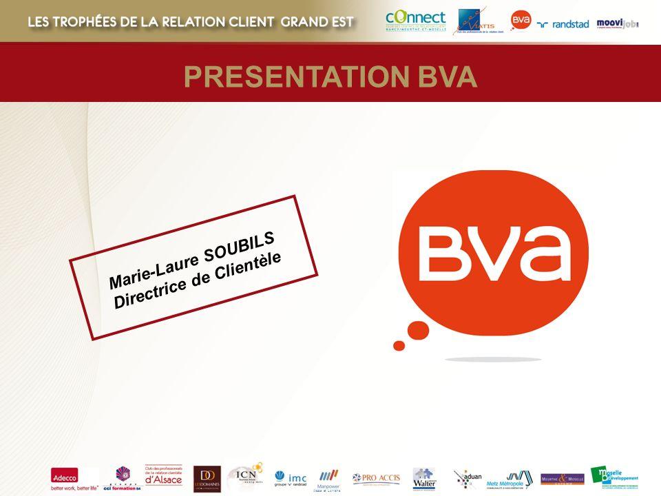 Alsace et Lorraine Marie-Laure SOUBILS Directrice de Clientèle PRESENTATION BVA