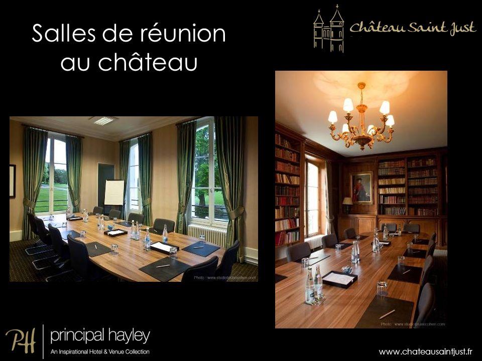 www.chateausaintjust.fr Salles de réunion au château