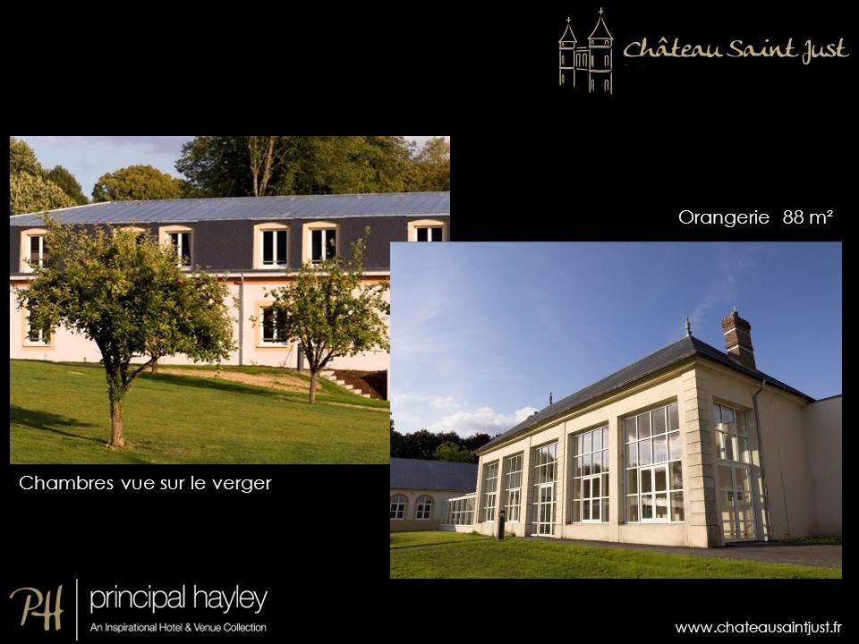 www.chateausaintjust.fr Chambres vue sur le verger Orangerie 88 m²