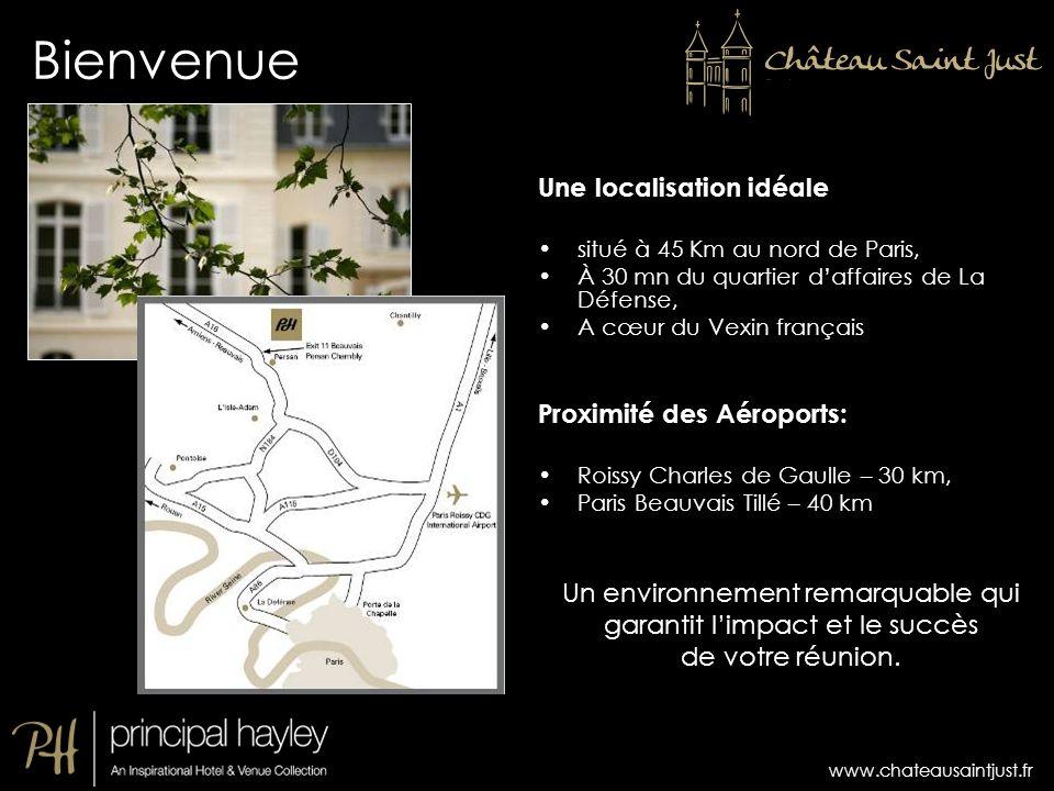 Une localisation idéale situé à 45 Km au nord de Paris, À 30 mn du quartier daffaires de La Défense, A cœur du Vexin français Proximité des Aéroports:
