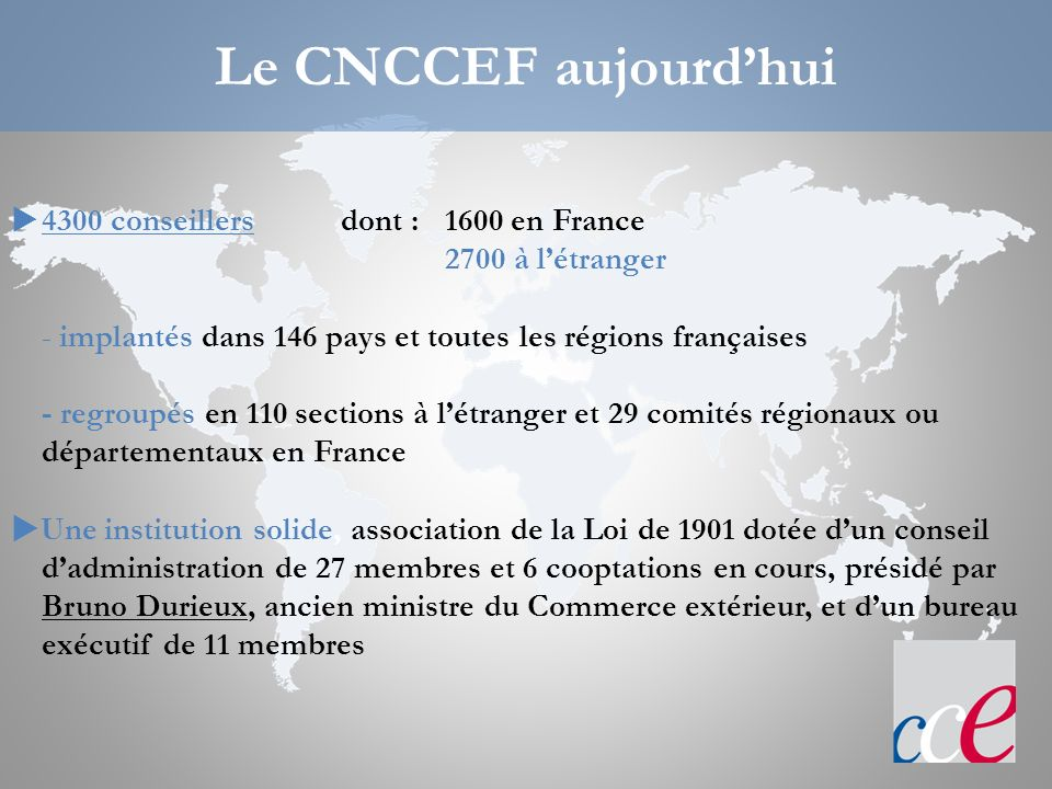 Quelles sont les missions des CCEF .