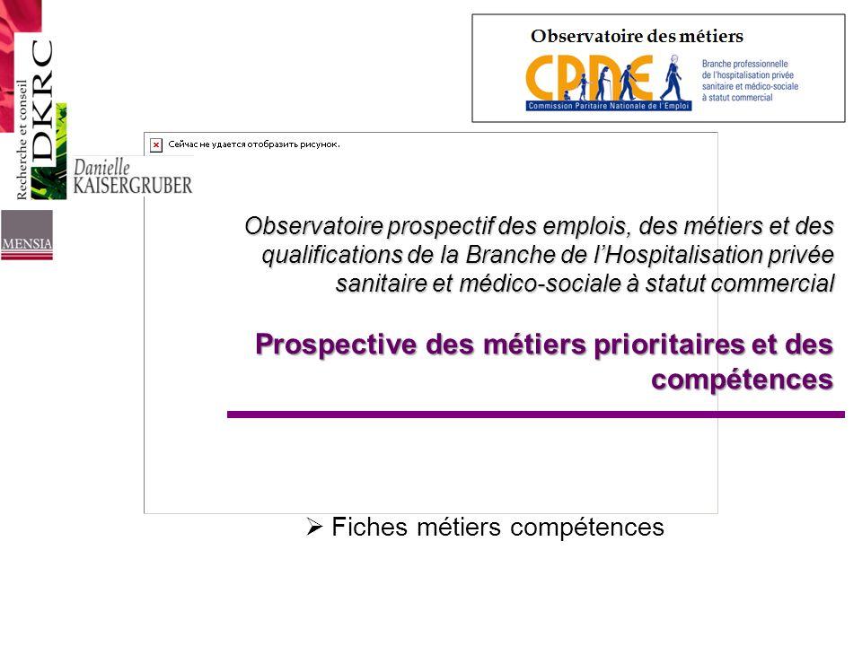 Observatoire prospectif des emplois, des métiers et des qualifications de la Branche de lHospitalisation privée sanitaire et médico-sociale à statut c