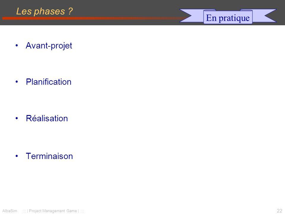 23 AlbaSim ::: | Project Management Game | ::: 6 fonctions de base du management de projet Qui, où, quand, quoi, comment .