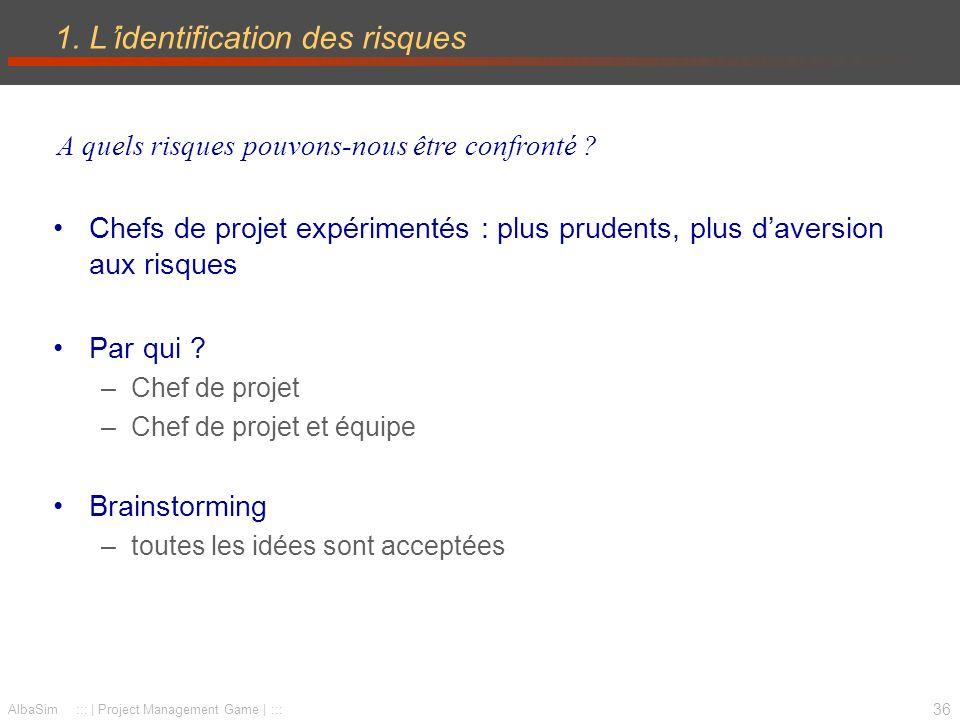 37 AlbaSim ::: | Project Management Game | ::: 1.