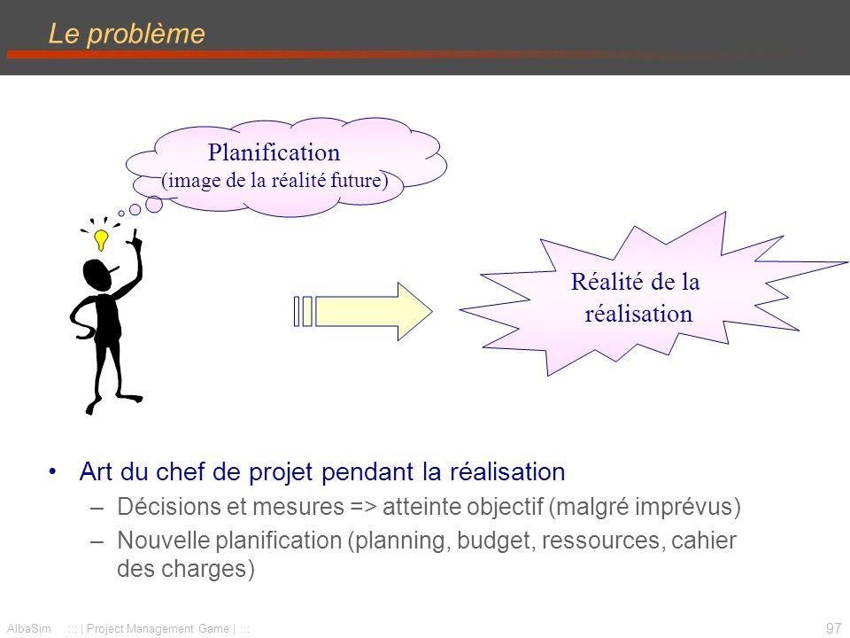 98 AlbaSim ::: | Project Management Game | ::: Définitions Suivi (monitoring) : « où en est le projet.