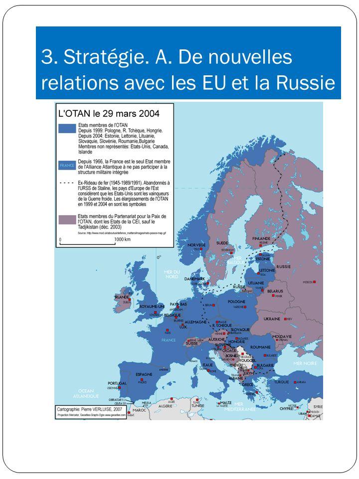 3. Stratégie. A. De nouvelles relations avec les EU et la Russie