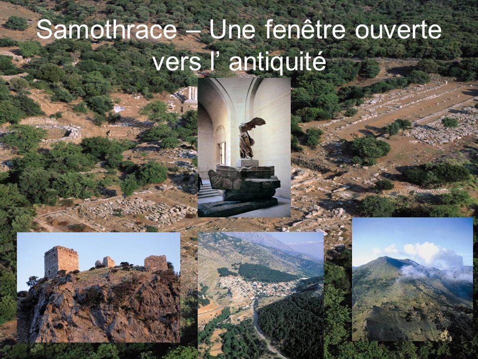 Samothrace – Une fenêtre ouverte vers l antiquité