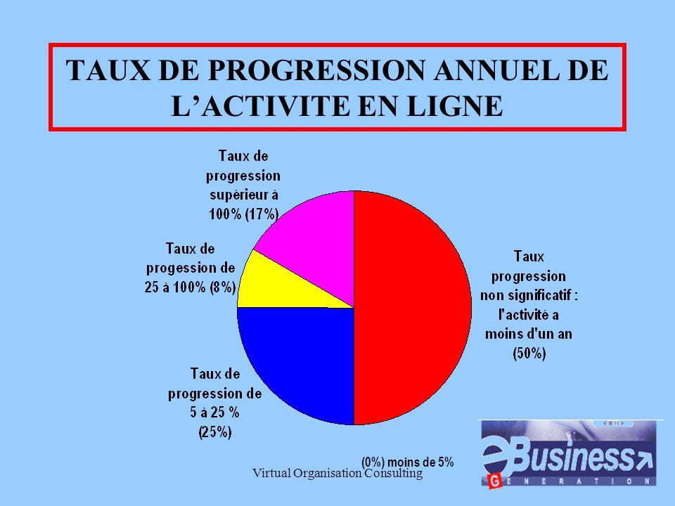 Virtual Organisation Consulting9 CA ANNUEL DE lACTIVITE EN LIGNE