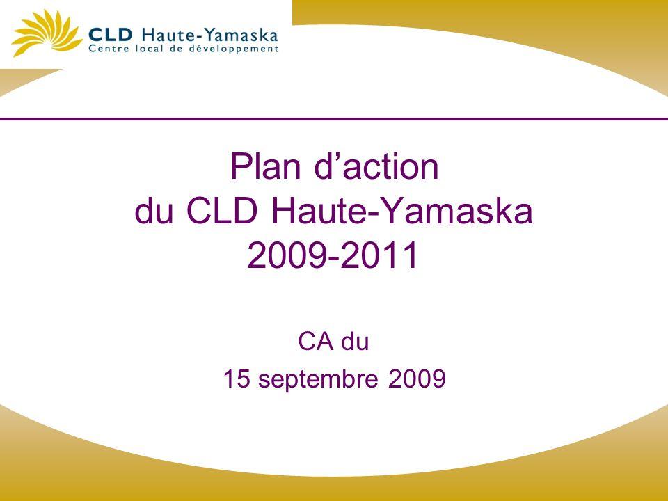 Plan daction du CLD Haute-Yamaska 2009-2011 CA du 15 septembre 2009