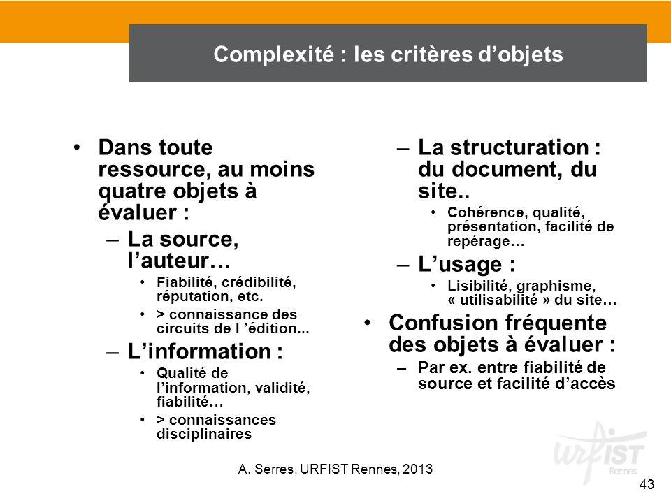 –La structuration : du document, du site.. Cohérence, qualité, présentation, facilité de repérage… –Lusage : Lisibilité, graphisme, « utilisabilité »