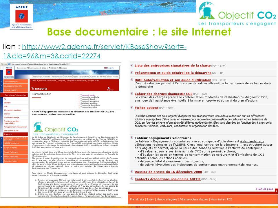 Base documentaire : le site Internet lien : http://www2.ademe.fr/servlet/KBaseShow?sort=- 1&cid=96&m=3&catid=22274 http://www2.ademe.fr/servlet/KBaseS