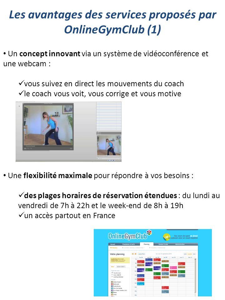 Un concept innovant via un système de vidéoconférence et une webcam : vous suivez en direct les mouvements du coach le coach vous voit, vous corrige e