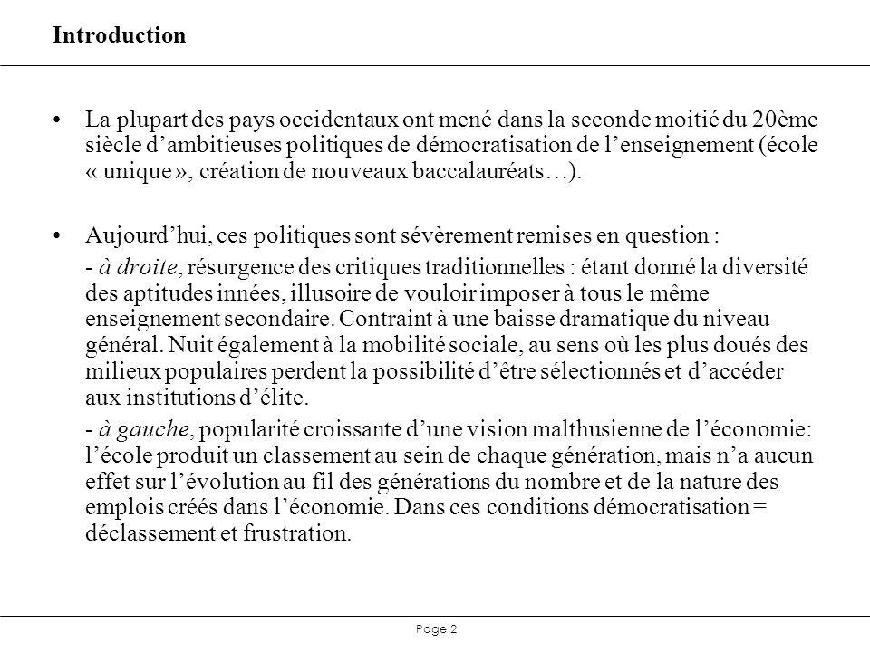 Page 43 Eléments de conclusion : débats en cours …tout ne va pourtant pas très bien… Maternelle : bilan « social » positif, bilan « scolaire » plus mitigé.