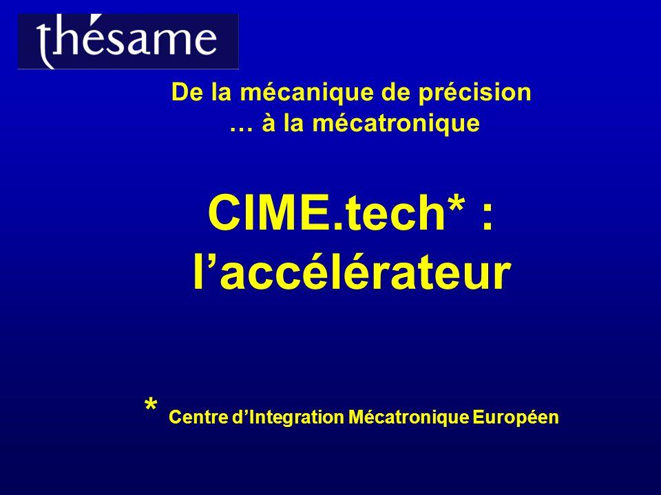 De la mécanique de précision … à la mécatronique CIME.tech* : laccélérateur * Centre dIntegration Mécatronique Européen