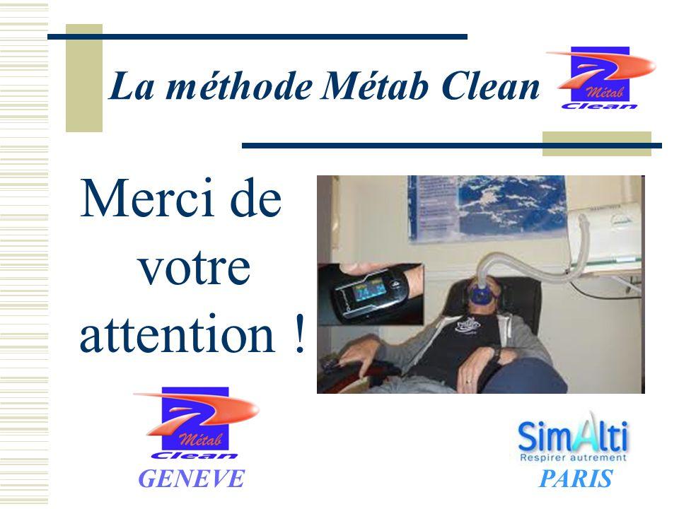 La méthode Métab Clean Merci de votre attention ! GENEVEPARIS