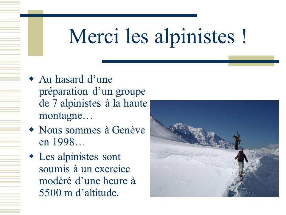 Merci les alpinistes ! Au hasard dune préparation dun groupe de 7 alpinistes à la haute montagne… Nous sommes à Genève en 1998… Les alpinistes sont so