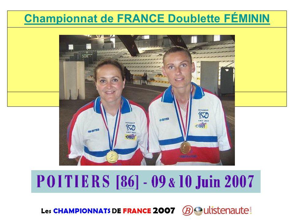 Championnat de FRANCE Doublette FÉMININ