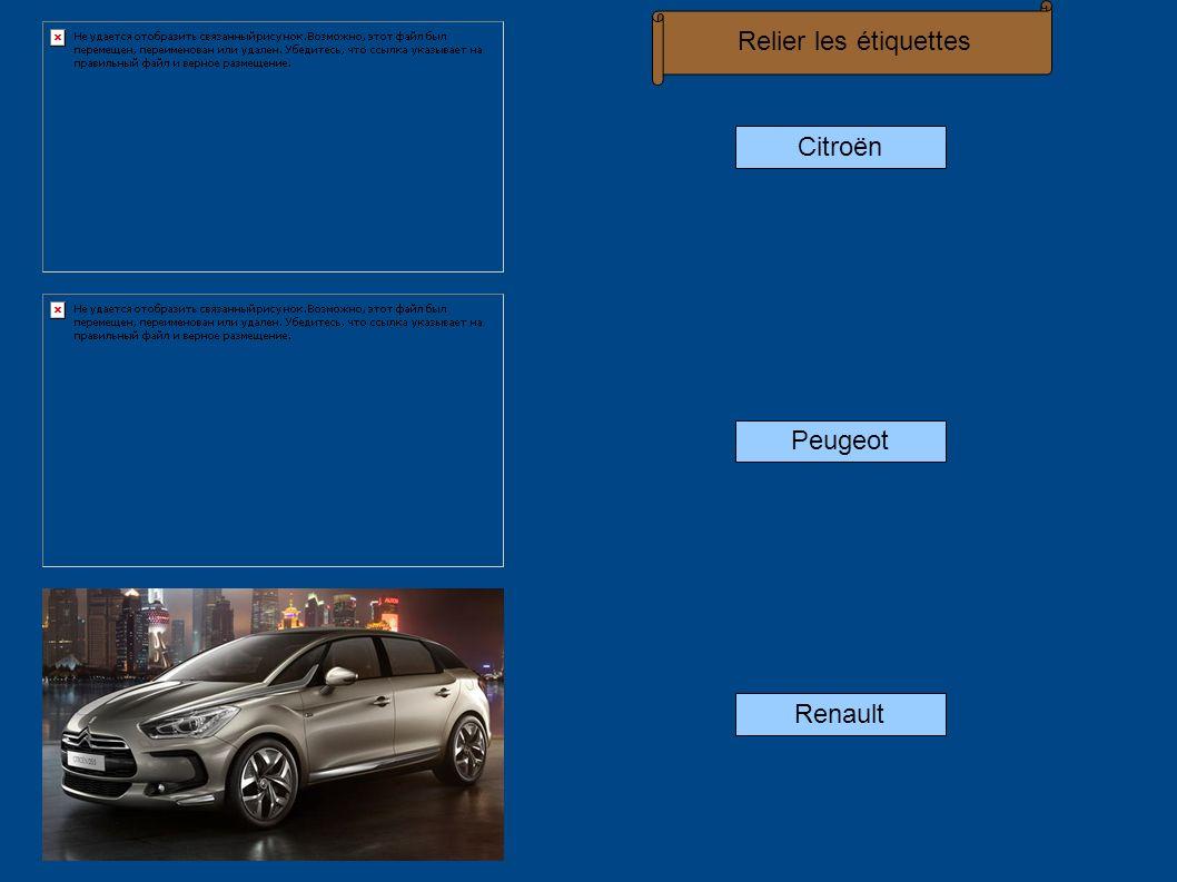 Citroën Peugeot Renault Relier les étiquettes